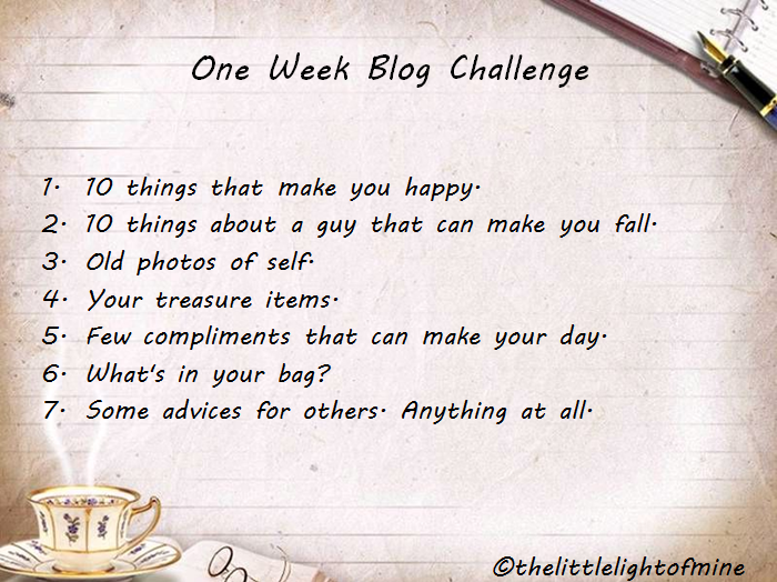 One Week Blog Challenge