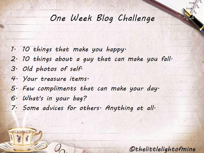 One Week Blog Challenge